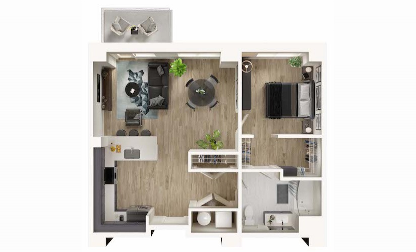 Model Unit A Bedroom