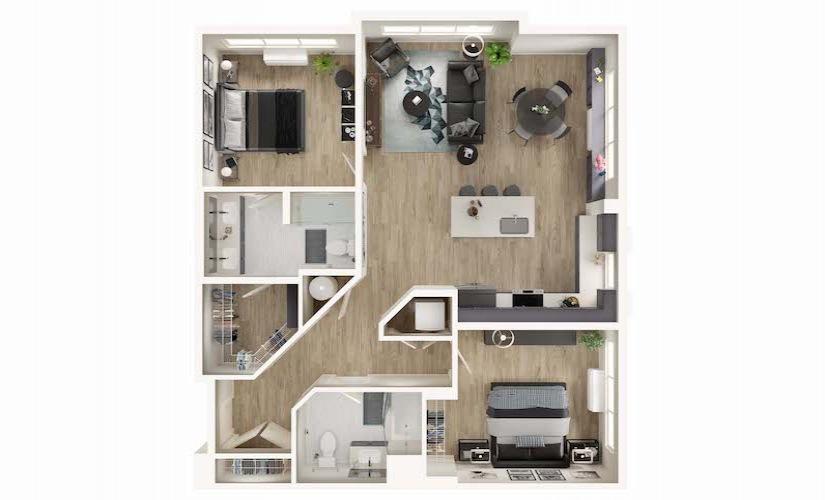 Model Unit B Bedroom